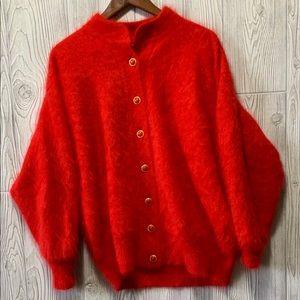 Vintage Belldini Rabbit Hair & Lambswool Cardigan